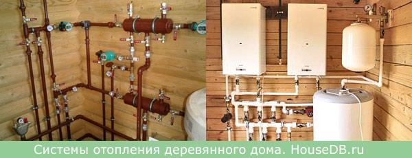 Системы отопления деревянного