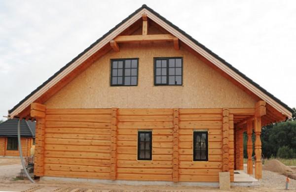 Внешняя отделка домов из профилированного бруса