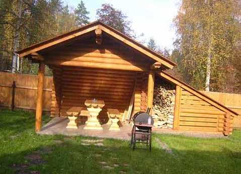 Баня своими руками с дровяником 926