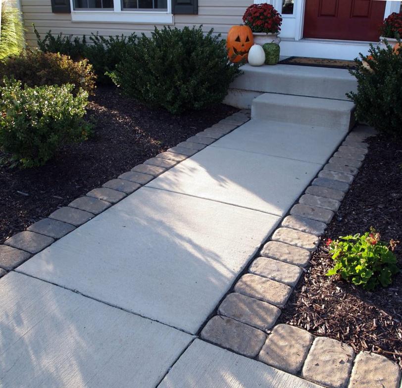 бетонная смесь для дорожек в саду