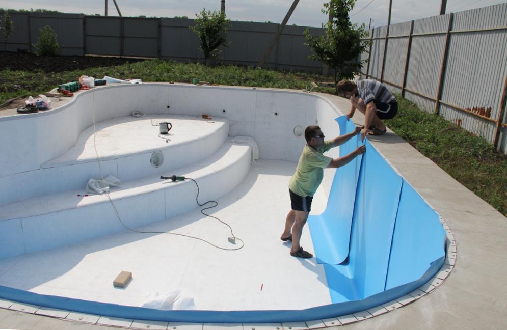 защита стен бассейна